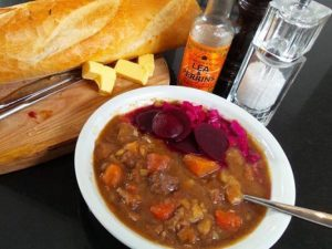 plate of stew, plate of scouse