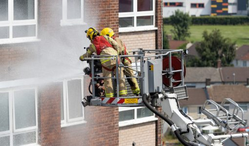 Merseyside Fire & Rescue training exercise at Gaywood Green